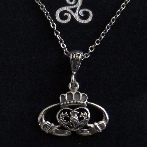 Pendentif Claddagh argent