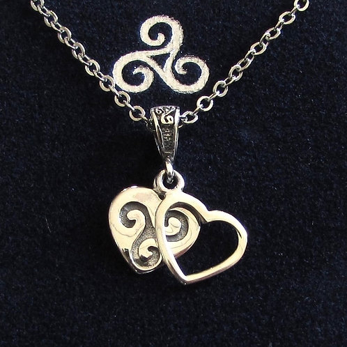 Pendentif coeur triskell