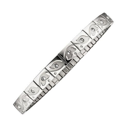 Bracelet magnétique flexi Arbre de vie, pierres de zirconium