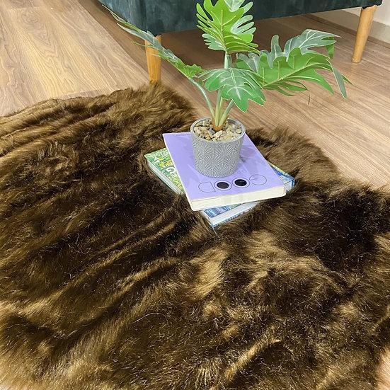Fur carpets - one color