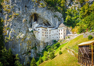 Predjama; castle at the cave mouth in Po