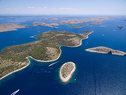 aerial view of the National park Kornati