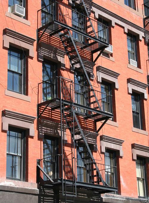 fire-escape red brick