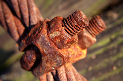 rusted-bolts & wire