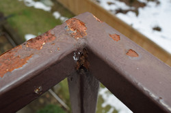rust wire railing