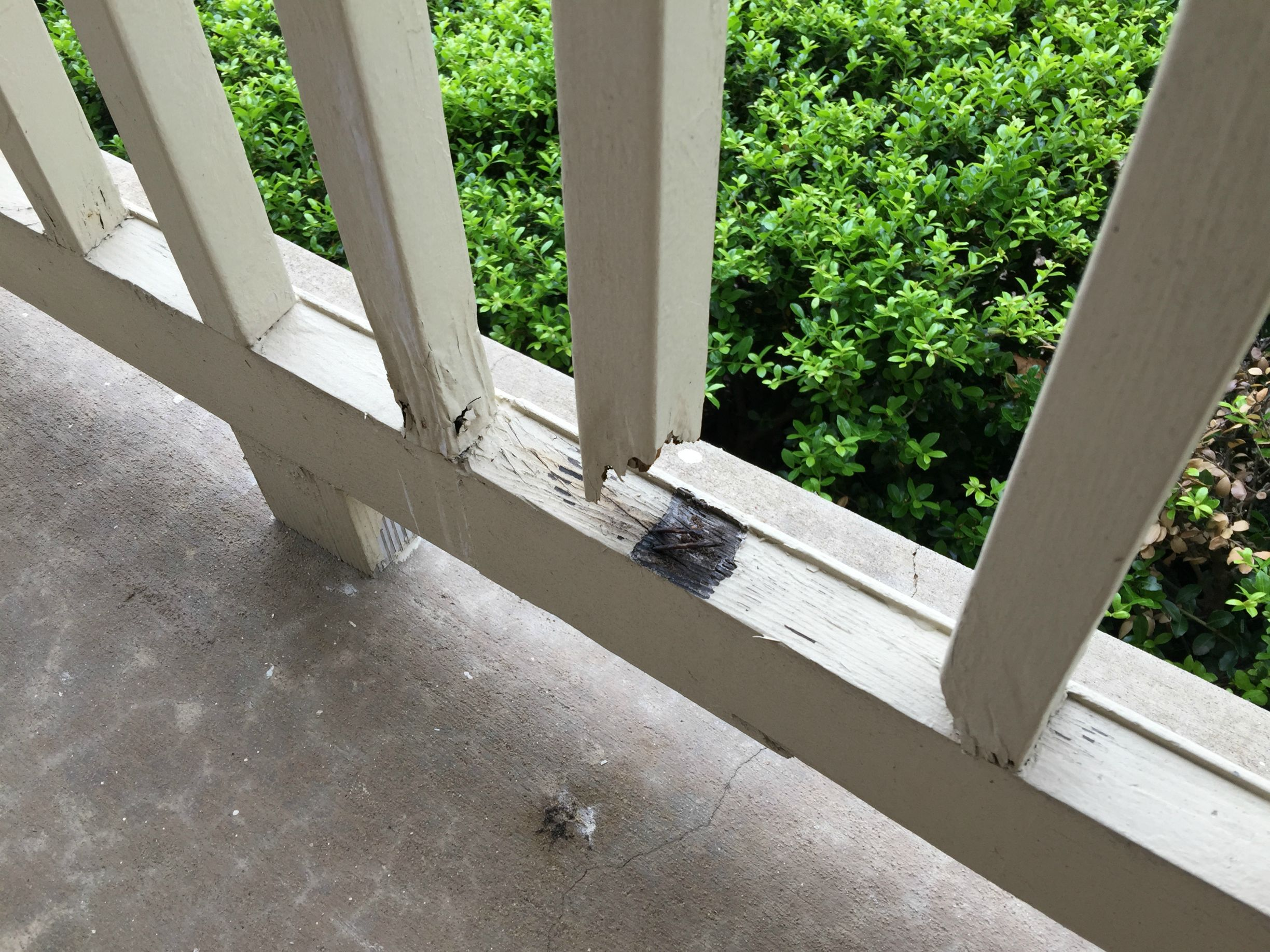 rotted hand rail