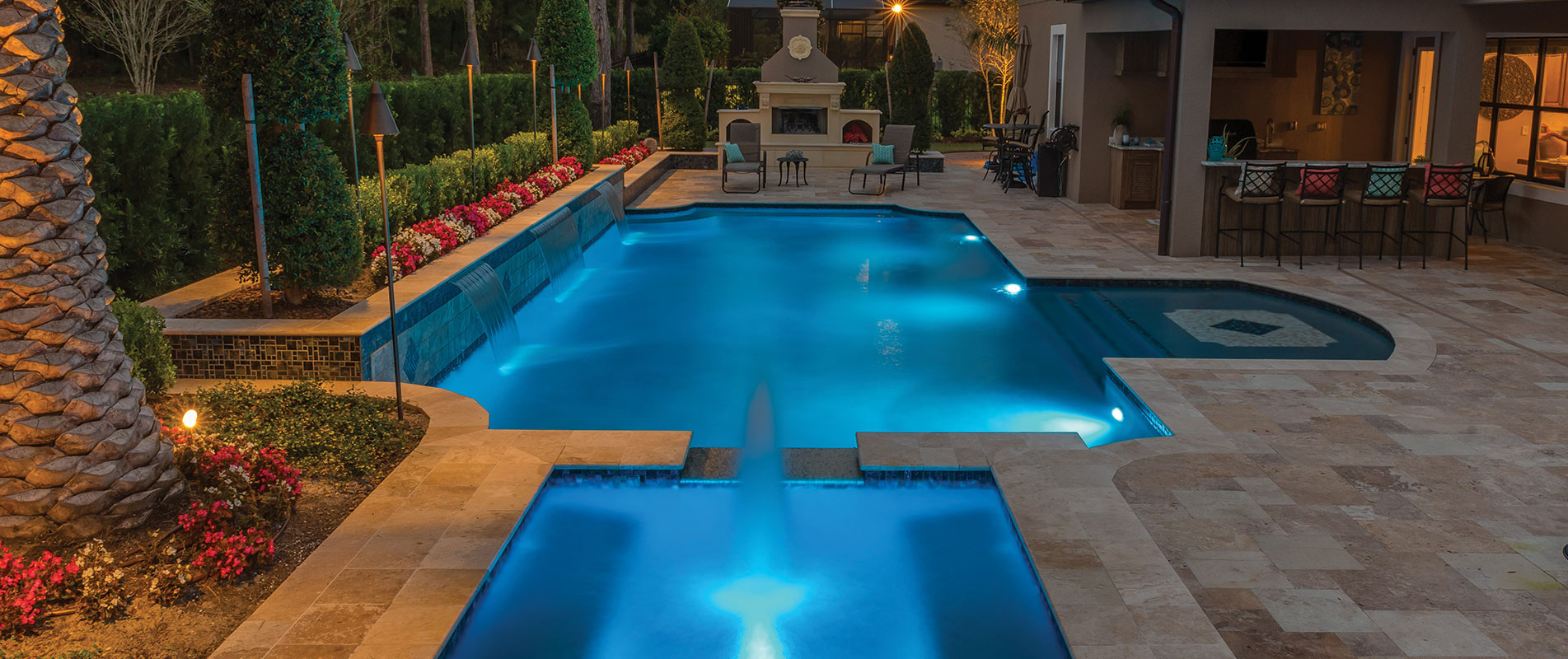 custom-pool-at-night