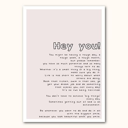 'Hey you!' print