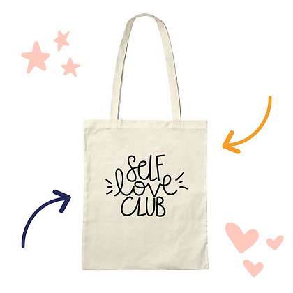 'Self Love Club' tote bag