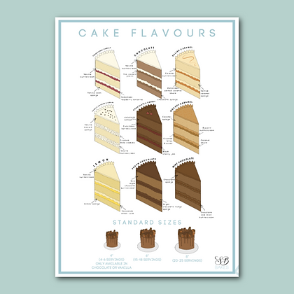BRANDED Cake flavour list