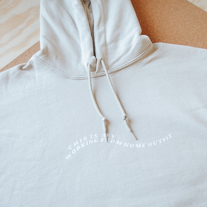 'Working from home outfit' hoodie