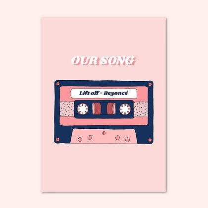 Music tape print