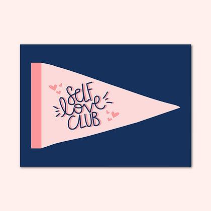 'Self Love Club' print