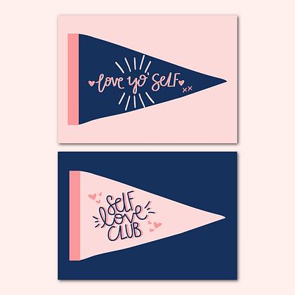 'Self Love Club' print pack