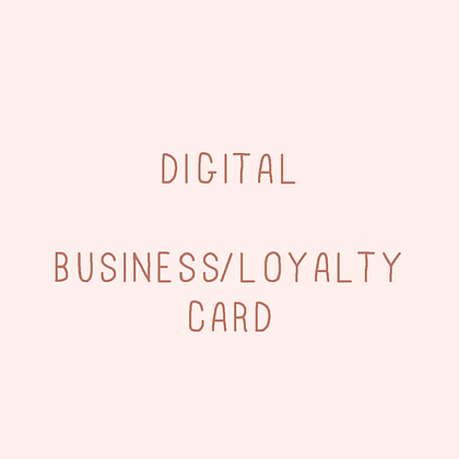 Business/loyalty card
