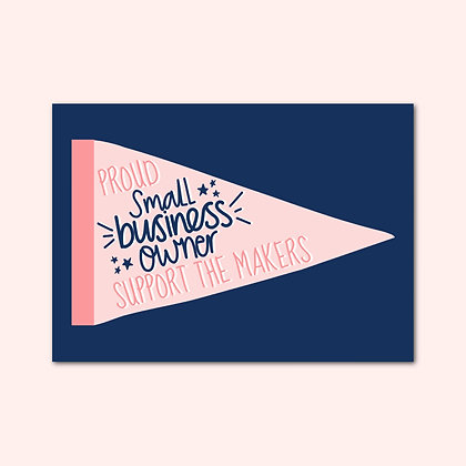 Small business owner print