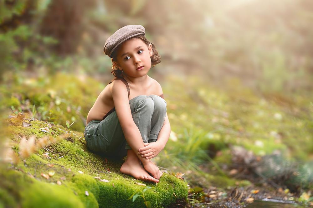 whimsical portrait, fine art, Pinehurst creek, Makana Photography, Southern Pines children photography, Aberdeen, Cameron, Sanford, Ft Bragg, photographer, outdoor portrait