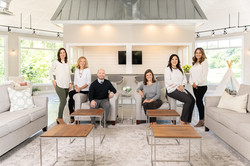Southern pInes company headshot group posing indoors