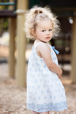 portrait of girl at playground