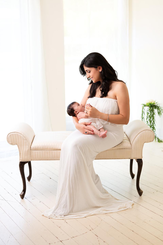 newborn photographer Pinehurst studio pictures maternity gown Southern Pines aberdeen portrait