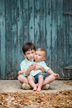 sibling portrait two boys sitting