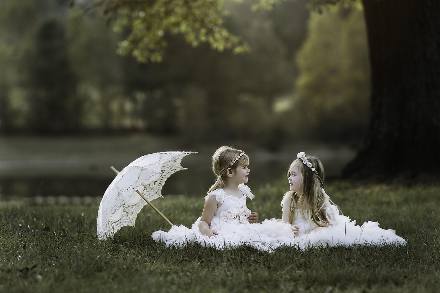 fine art portrait of two girls
