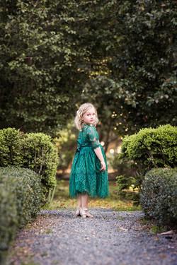 fine art portrait girl in dress