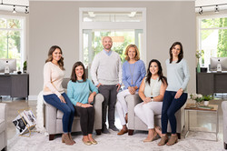 Southern pInes company headshot group posing indoors ze