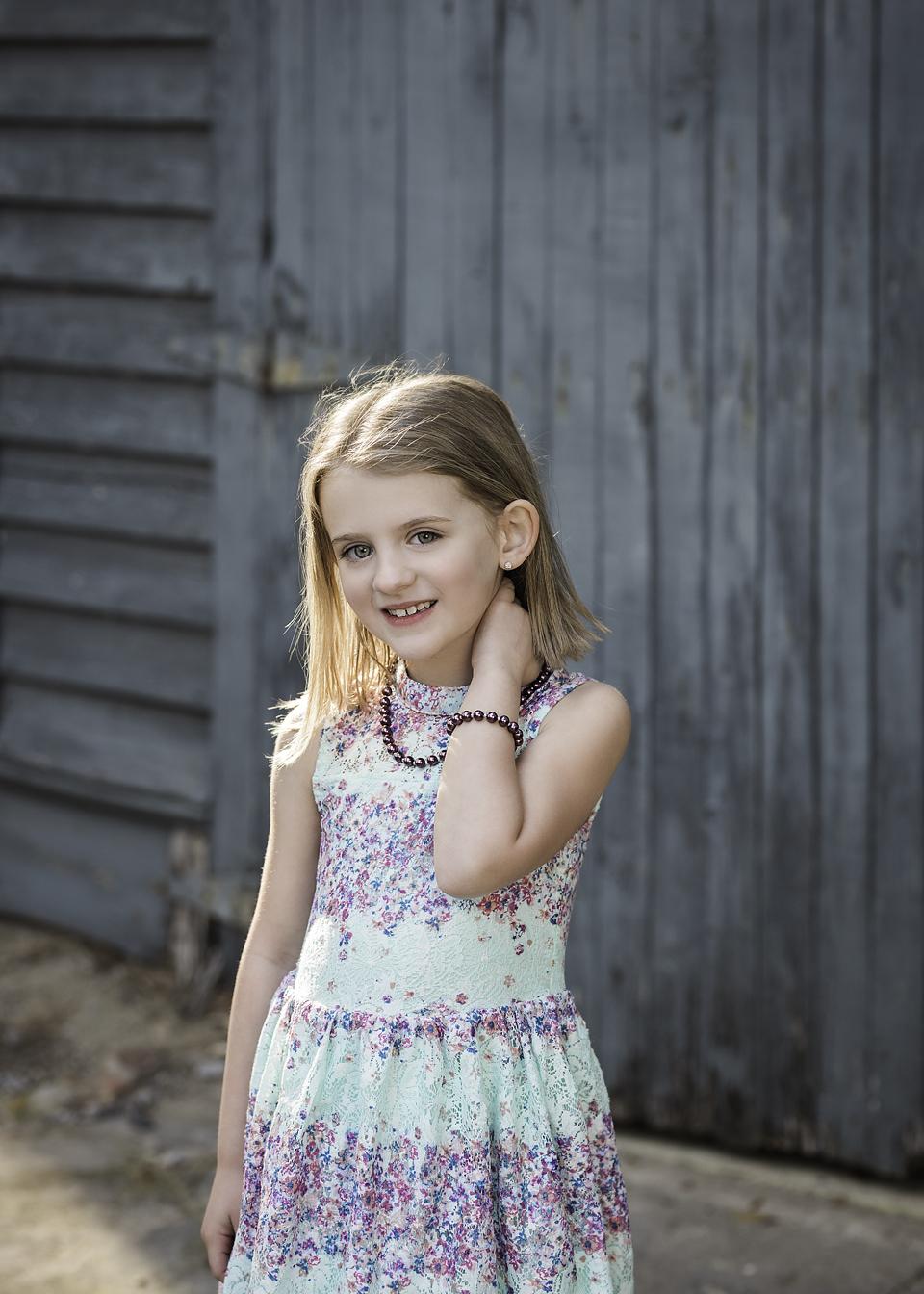 backlight portrait of girl