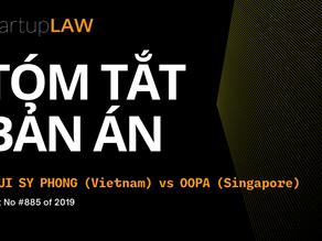 Tóm tắt Bản án (tiếng Việt) Bùi Sỹ Phong và OOPA Singapore