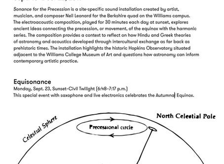 Sonance for the Precession, WCMA