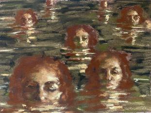 self portrait in the sea