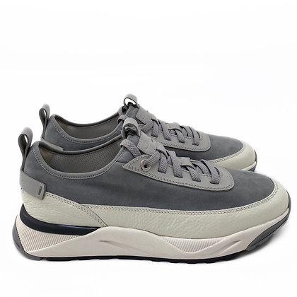 Santoni Leather & Suède Sneakers
