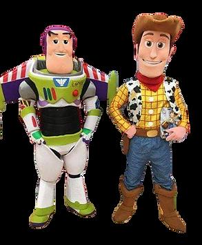 Mascottes de Buzz l'Eclair et Woody de Toy Story