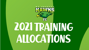 2021 Training Allocations Released