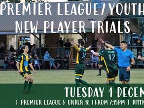 Premier League & Youth Trials