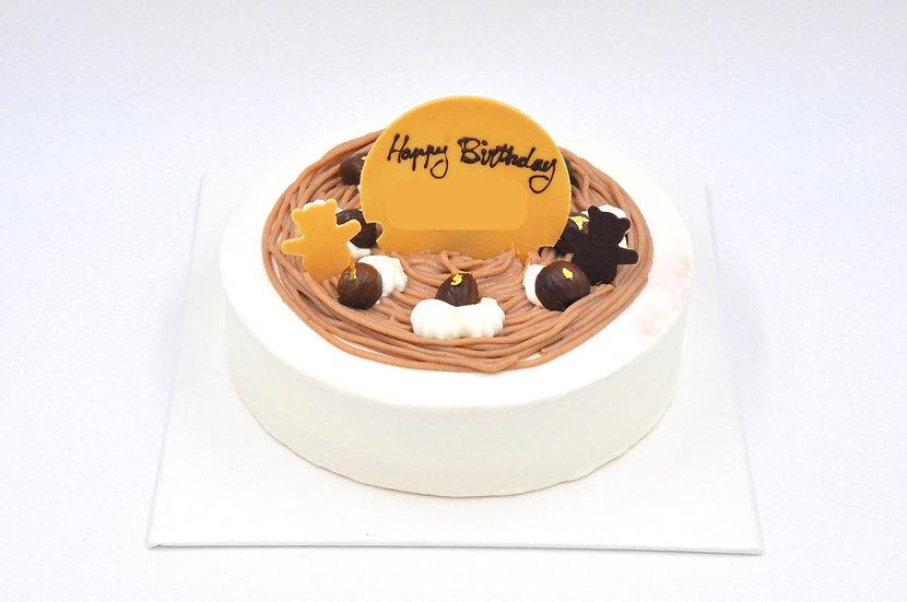 Chestnut Cream Cake  栗子奶油蛋糕
