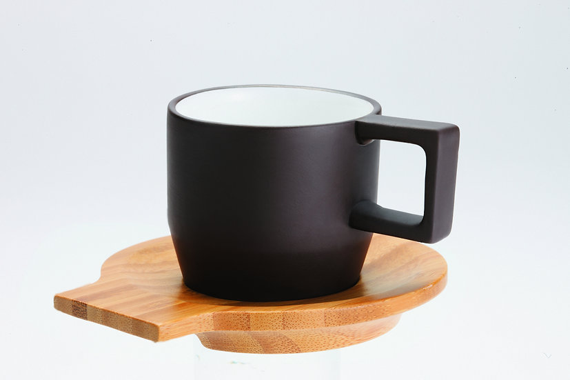 Purple Clay, Coffee set, Espresso Cup Set (1pc Cup + 1pc Saucer)