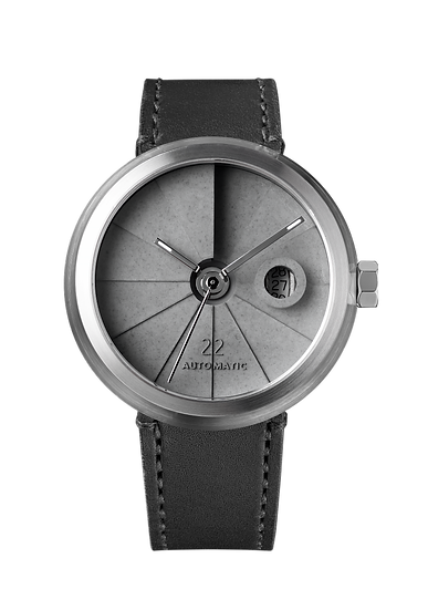 4D Concrete Watch Automatic - Minimal Steel Edition