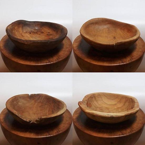 手工柚木碗