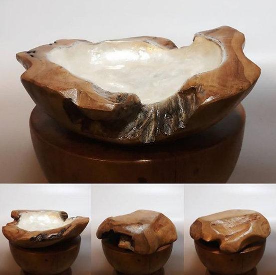 貝殼柚木盤