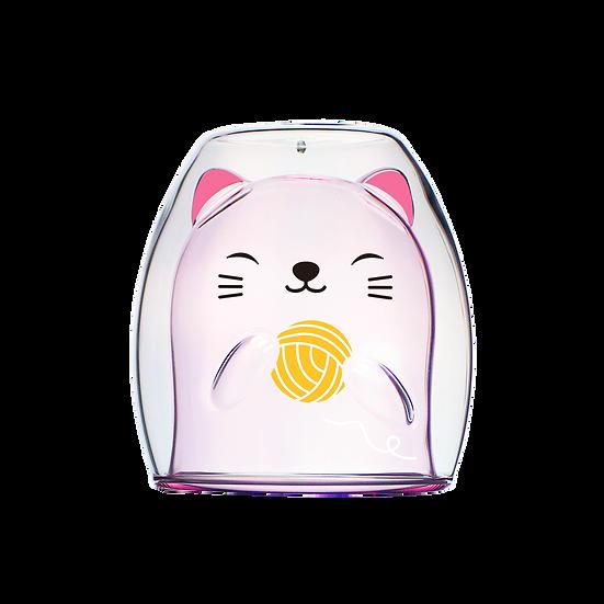 Cat Double - Pink 粉色小貓雙層杯