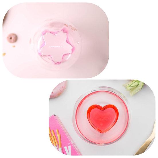 (Set) Sakura Double + Heart-shaped Double  (套裝) 櫻花雙層杯+心型雙層杯