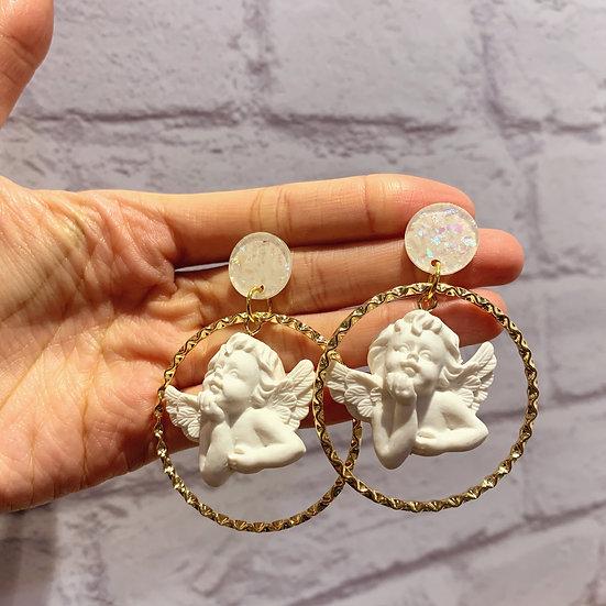 小天使耳環(兩款小天使)