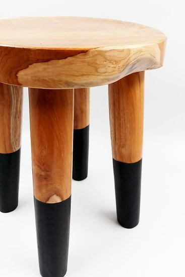 再生柚木圓凳