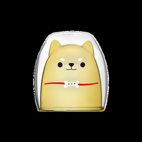 Shiba Inu Double - Yellow 柴犬雙層杯-透黃