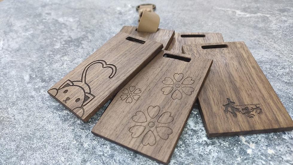 實木行李牌