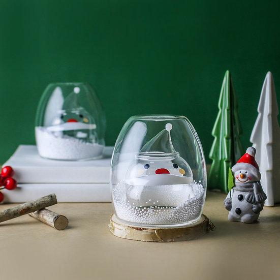 聖誕系列-聖誕老公公雙層玻璃杯