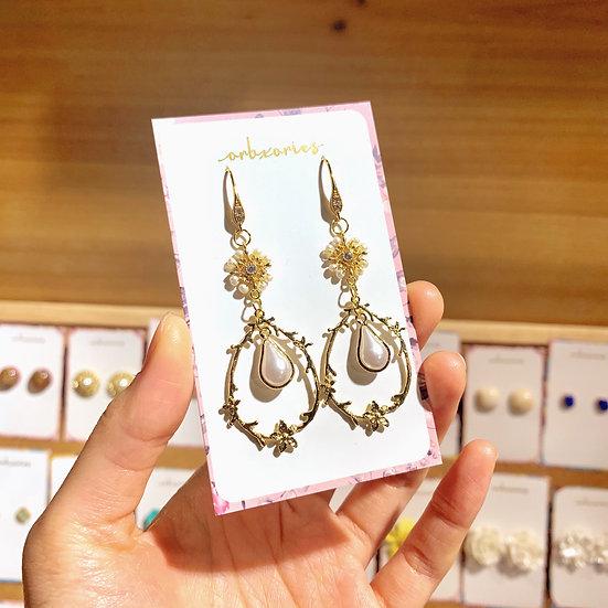 優雅小珍珠耳環