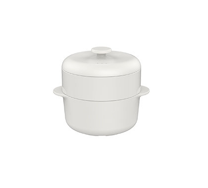 (特別套裝)饗食版 蒸鍋蒸籠+中溫瓷蒸籠盤 (24cm)